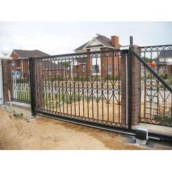Из чего состоят откатные ворота?